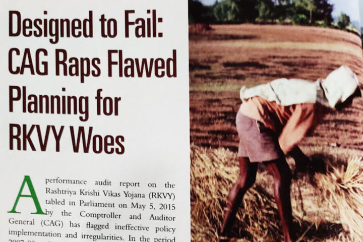 Designed to Fail: CAG raps flawed planning for RKVY woes